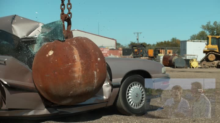 Видео: 4 Ton Wrecking Ball in Slow Motion - The Slow Mo Guys