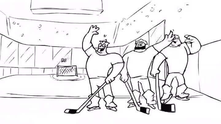 17-Три богатыря и Хоккей-Three Russian Bogaturs & HOCKEY (animation)