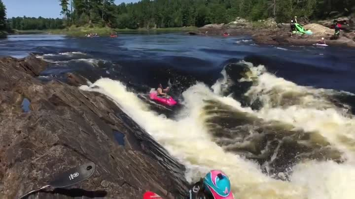 Видео: Keener Katie Fankhouser crushing the get out of your boat in tough places game (Stephen Wright)