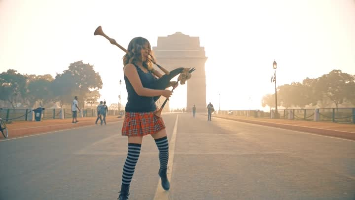 Shipping Upto Boston / Enter Sandman - Bagpipe Cover (Godesses of Bagpipe)