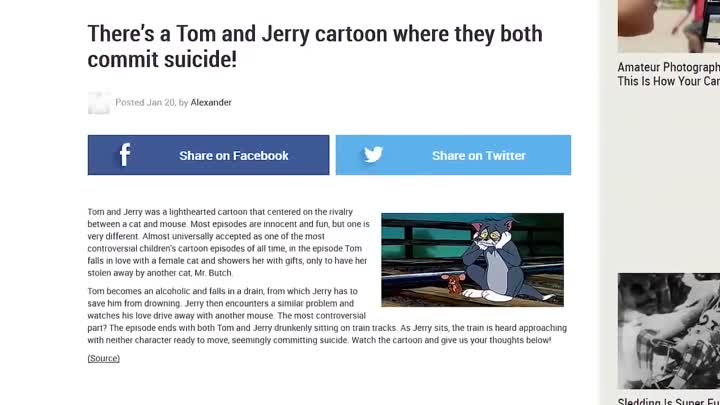 Видео: Том и Джерри серия которую НЕ показывали по тв Nostalgia Critic_ Did Tom and Jerry Kill Themselves_ (rus vo)