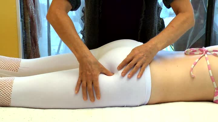 How To Massage Gluteus Muscles; Hips & Buttocks Massage Therapy Techniques Athena Jezik