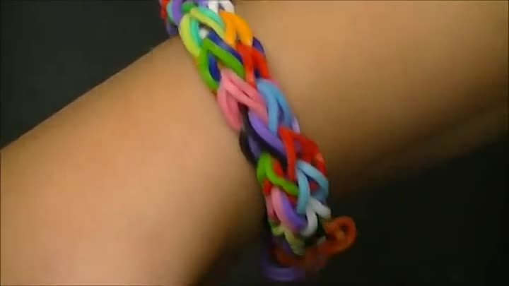 "Видео: Браслет из резинок 11. Стиль ""Дождик"" (без станка). Rainbow loom bracelet, ""rainy day"""