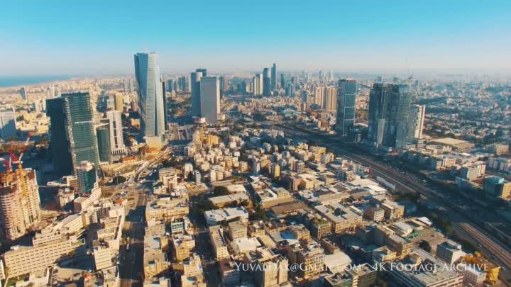 Видео: A Day in Tel Aviv - Aerial Perspective תל אביב