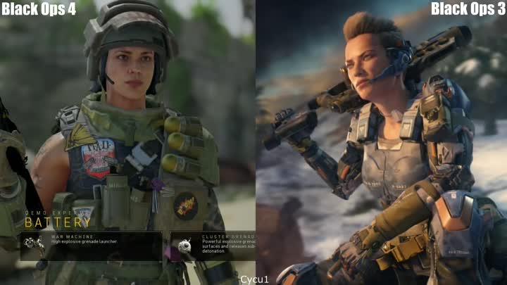 Видео: Call of Duty Black Ops 4 vs Black Ops 3 Every Specialist Model Comparison