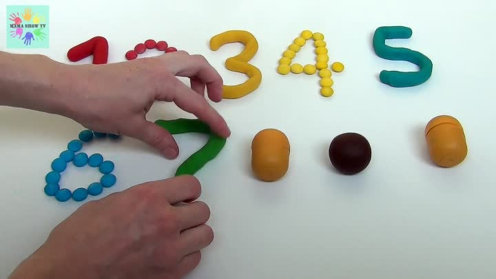 Видео: Учим цифры и цвета на английском языке с Candy M&M's and Play Doh Learn the numbers and colors