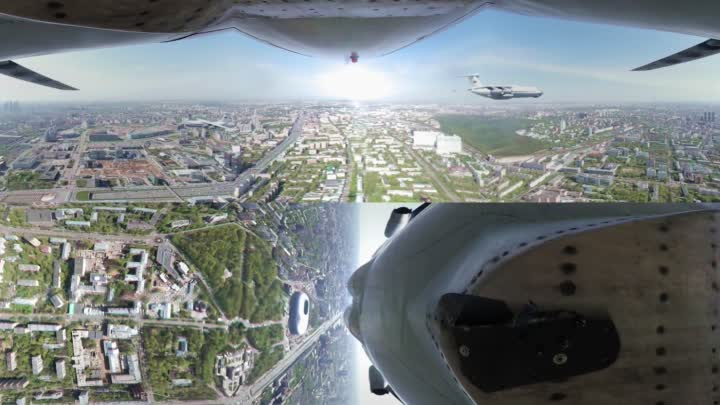 Видео: Soar through the Moscow sky with Il-76 pilots in 360°