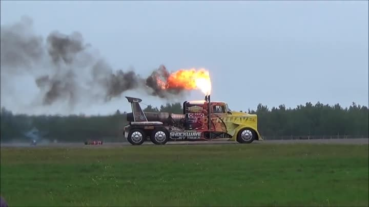 Shockwave Jet Truck at Duluth Air Show 2014