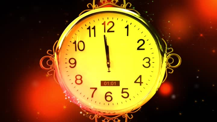 Happy New Year CLOCK 2019 ( v 683 ) Countdown Timer with Sound