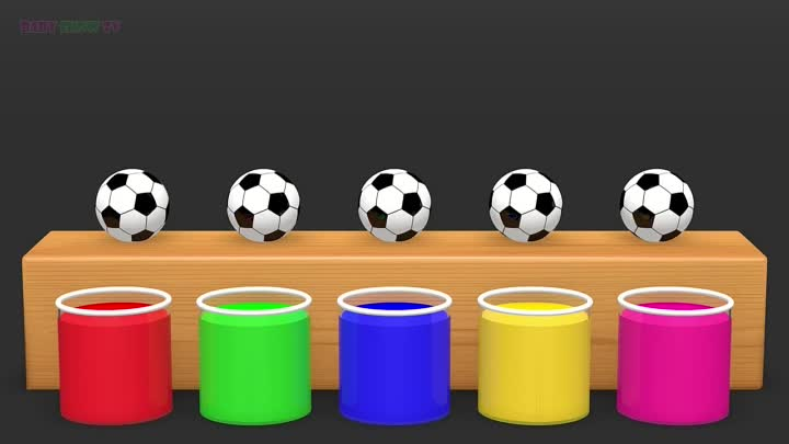 Видео: Learn Colors with Surprise Soccer Balls #h - Magic Liquids for Children Toddlers