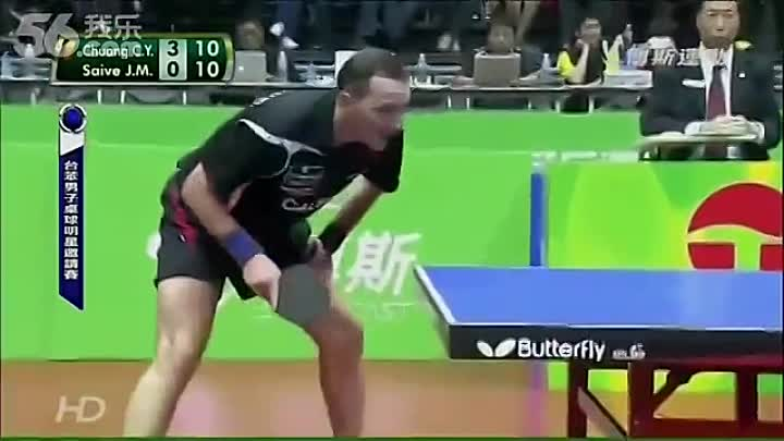 Видео: The most humorous table-tennis match ever