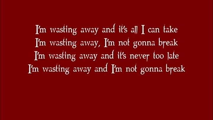Видео: Wasting Away- Decyfer Down- Lyrics.mp4