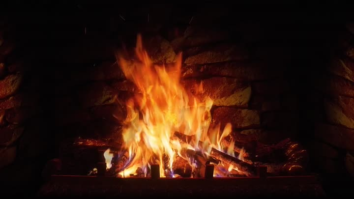 Relaxing Fireplace with Crackling Fire Sounds 8 HOURS No
