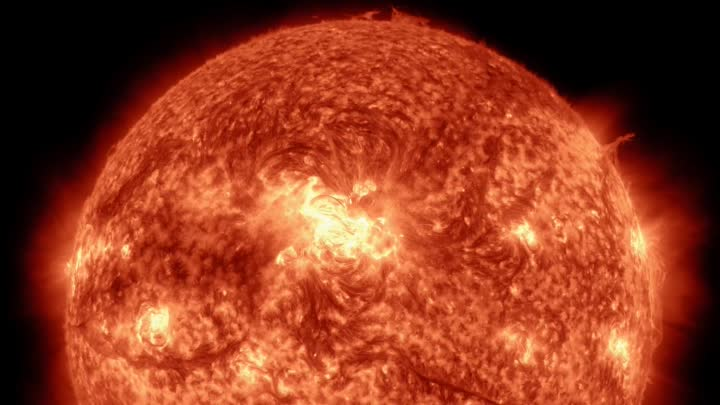 Видео: A timelapse of the Sun in 4K
