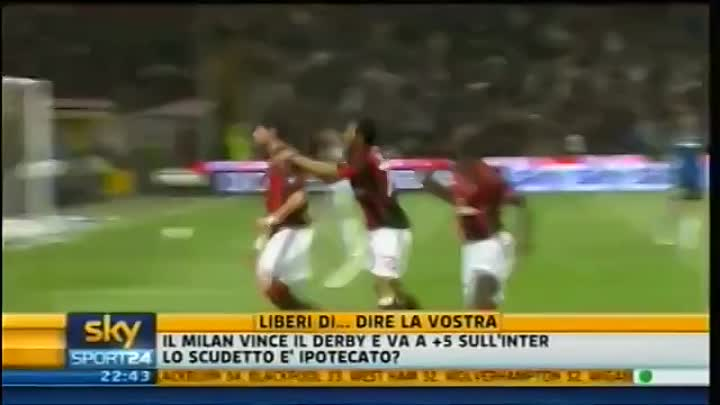 Видео: Milan - Inter 3-0 - Highlights Sintesi Sky Sport 24 - 02-04-2011 - 31^ giornata serie A - HQ