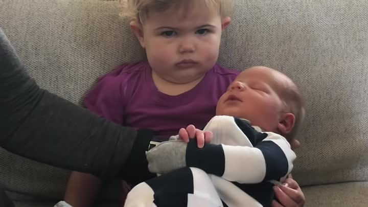 Toddler Meets Baby Bro for First Time