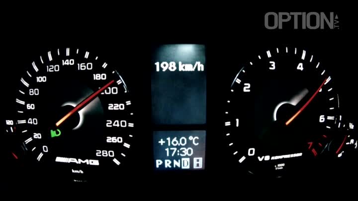 219 km/h en Mercedes G 55 AMG (Option Auto)
