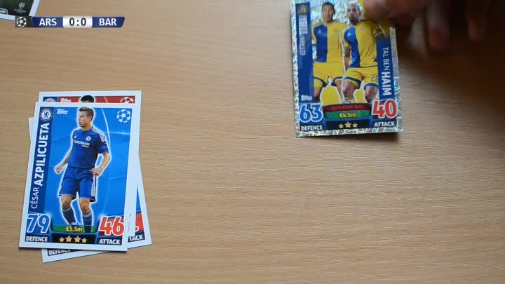Видео: BATTLE #1 ⚽️ UCL Play-off round of 16 - Arsenal VS Barcelona ⚽️ Match Attax | 23.02.2016