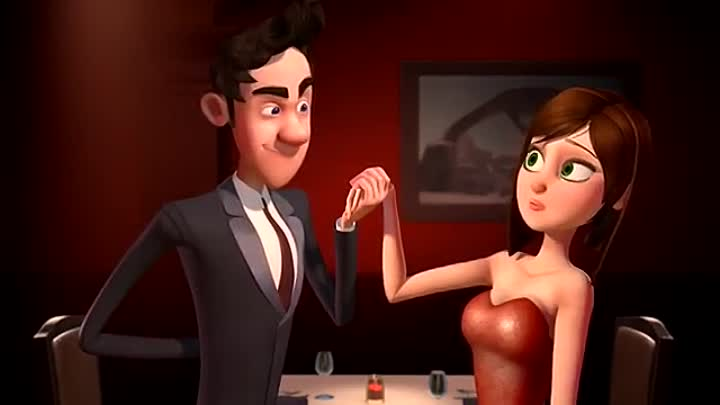 Видео: Funny Love Story - Animated Short Film, English