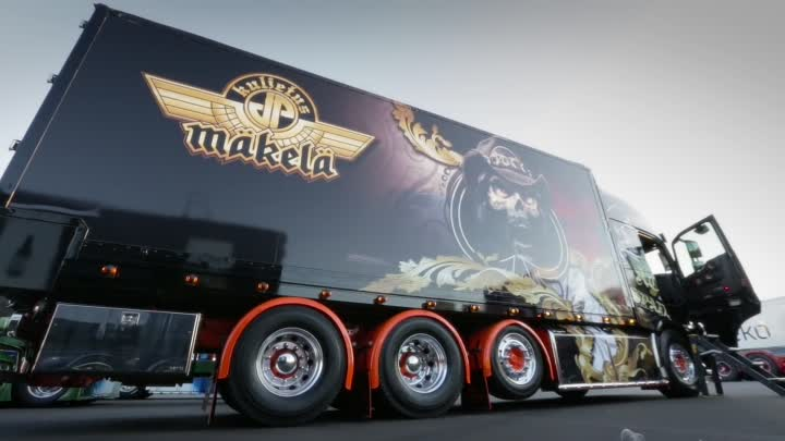 "Volvo Trucks - The 'Ace of Spades' truck - as heavy metal as it gets - ""Welcome to my cab - light"""